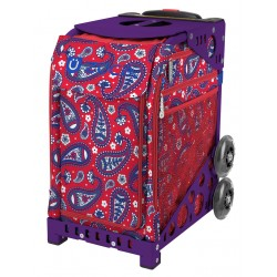 Paisley in Red Purple frame