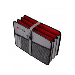 Document Organiser Grey/Red