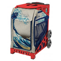 Great Wave Red frame